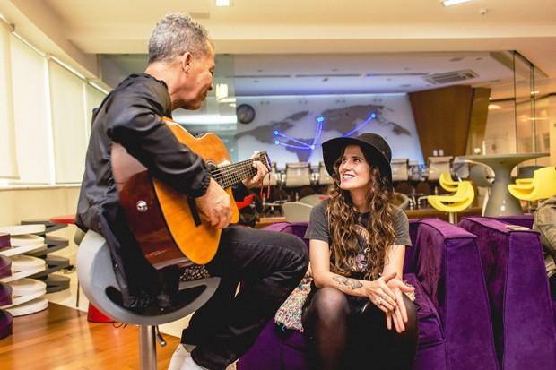 Hyldon ensaia com Ana Cañas antes do Rock in Rio (Foto: Divulgação)