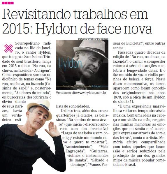 Hyldon na revista A Crítica