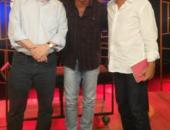 O premiado escritor Cristovão Tezza, Tony Belotto e Hyldon