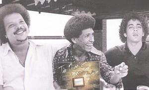 Na década de 70, Hyldon e Tim Maia gravaram um discos juntos, em um projeto que ainda contou com Cassiano (ao centro) (Foto: Divulgação)